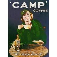 L1321大型キャンプコーヒーメタル広告ウォールサインレトロアート
