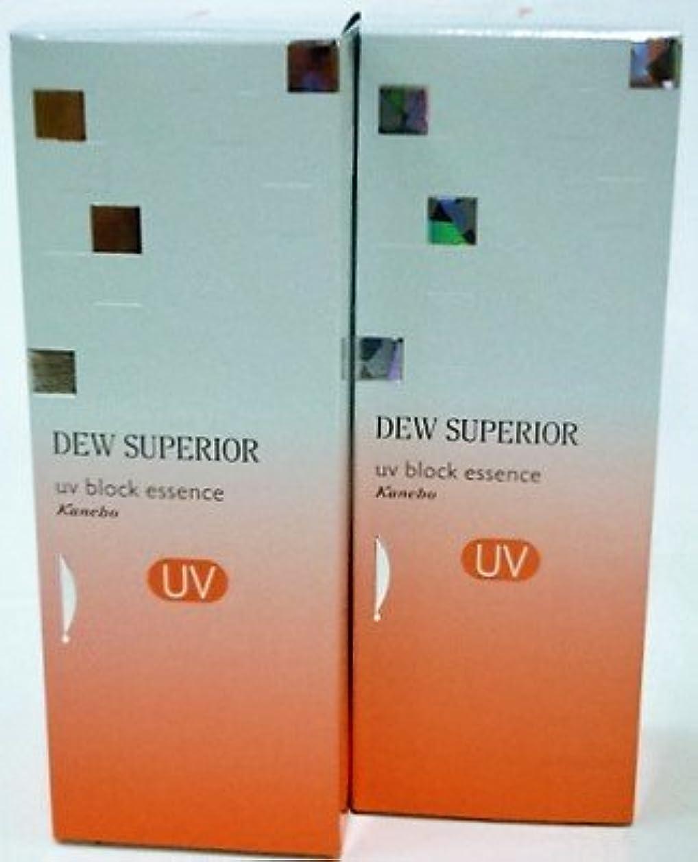 スーツケースコールドオレンジ<お得な2本パック>DEWスペリア UVブロックエッセンス 60g入り×2本