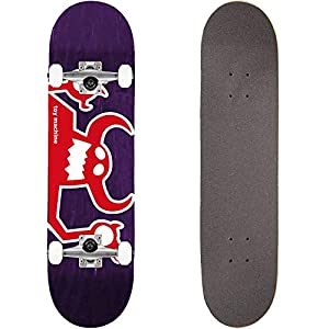 TOY MACHINE(トイマシーン) スケートボード コンプリート (完成品) OG MONSTER PURPLE パーツ使用 ブランド純正品 スケボー C18028pp (7.875 x 31.375)