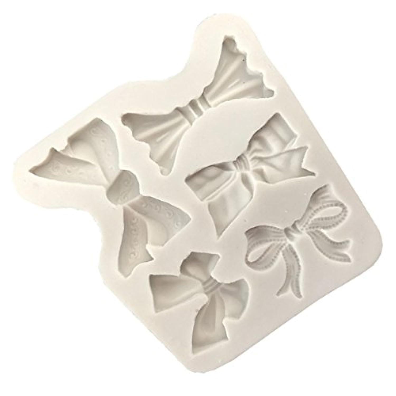 Fenteer シリコーンモールド ちょう結びの形 金型 フォンダン ケーキ装飾