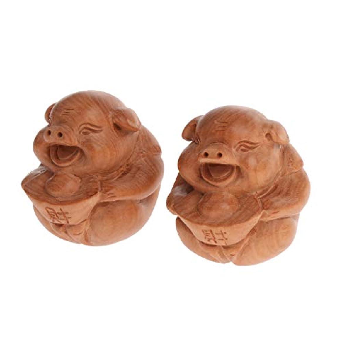 両方キリン透過性Baoblaze 1ペア 木製 マッサージボール 滑り止め リラックス プレゼント