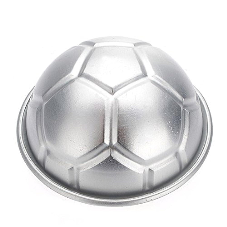 blisscomdepシックシルバーFootballデザイン金型Bread Cooking/ケーキ/Decorate耐熱皿キッチンツール-2pcs シルバー XX039NRO38119