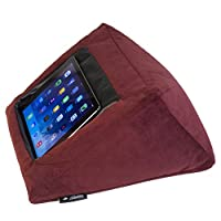 iPad Cushion Pillow Stand Holder Velvet (MAROON) Suitable for all Tablet devices. Perfect to use around the home for comfy ipad viewing. Luxurious Material