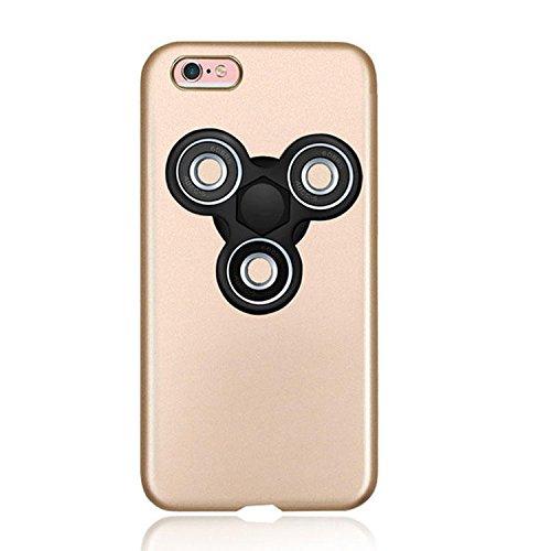 Dmeru IPhone6s PLUS iPhone6PLUS ハンドスピナー付き スマホンケース  フォーカス玩具  軽量 スリム 超薄型メッキ 360度保護 全面保護 ハード バック ケース アイホン 暇つぶし 独楽 集中力 玩具 耐久性 カバー スマホケース スマホカバー