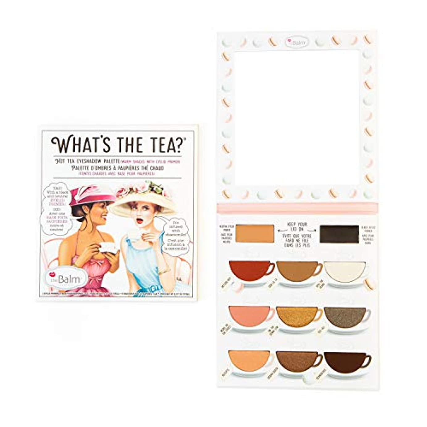 罪悪感スリーブビールザバーム What's The Tea? Hot Tea Eyeshadow Palette (Warm Shades With Eyelid Primer) -並行輸入品