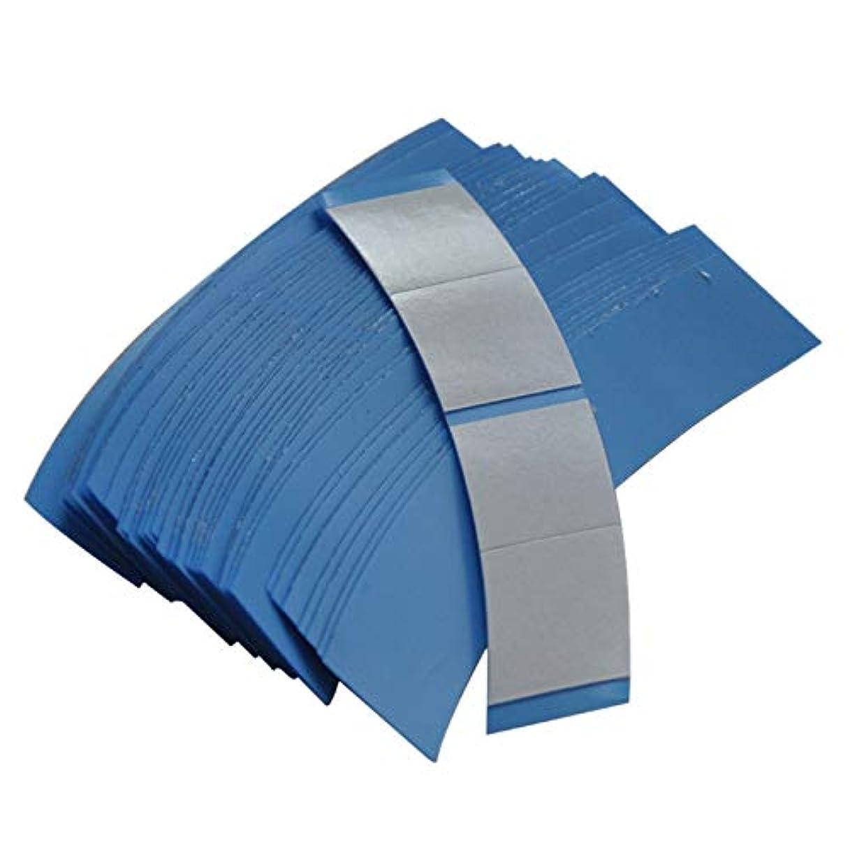 オーガニック示す着るSODIAL 36個/ロット ブルー スーパー固定テープヘアシステム両面粘着テープ テープエクステンション/ウィッグ/レースウィッグ用