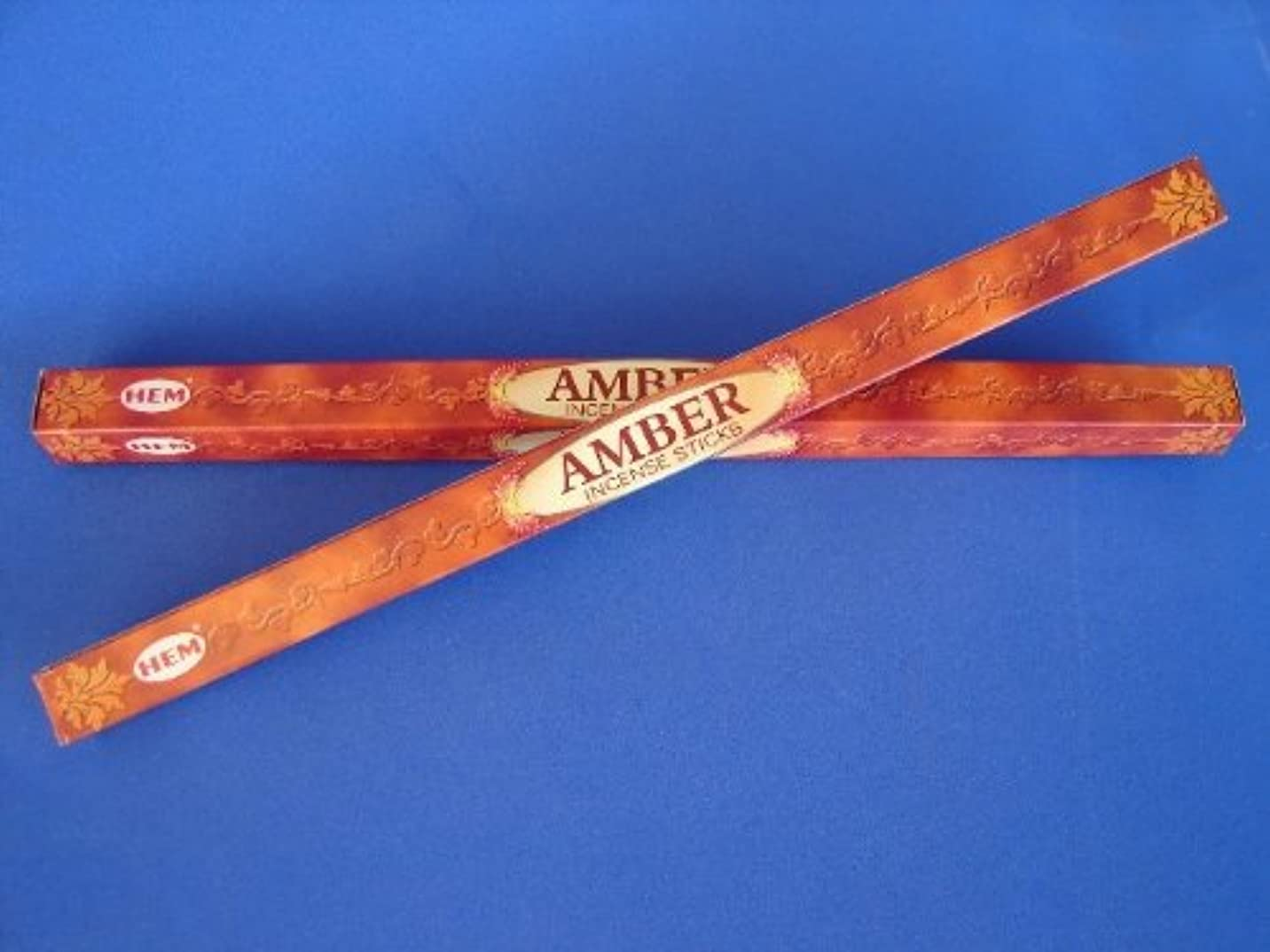 統計引くヨーロッパ4 Boxes of Amber Incense Sticks