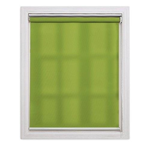 ロールスクリーン 非遮光 グリーン 幅80×丈220cm
