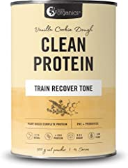 Nutra Organics Clean Protein - Plant Based Complete Protein With Additional Nutrients To Support Training, Rec