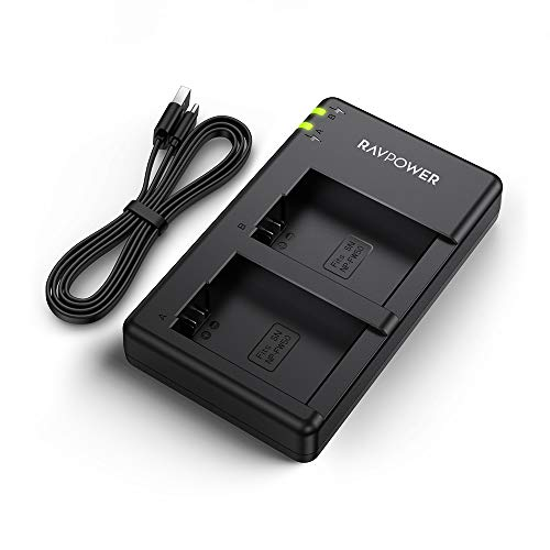RAVPower デジタルカメラ 互換急速充電器 USB バッテリー チャージャー NP-FW50 など対応 RP-BC024