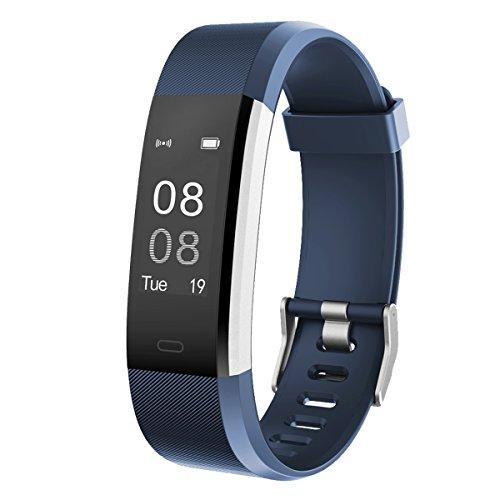 GanRiver 活動量計 スマートブレスレット Bluetooth搭載 腕時計型 心拍計 歩数計 ...
