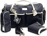 gr8x Escapades Holdall Bag, Black/Cream, Large