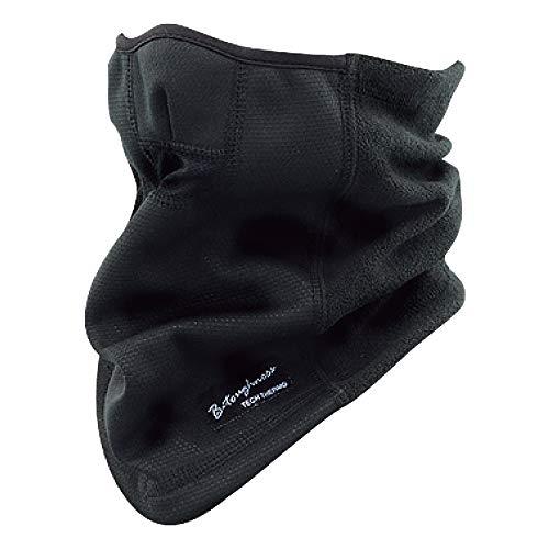 おたふく手袋 ボディータフネス 発熱防風 保温 ハーフフェイスウォーマー ブラック JW-125