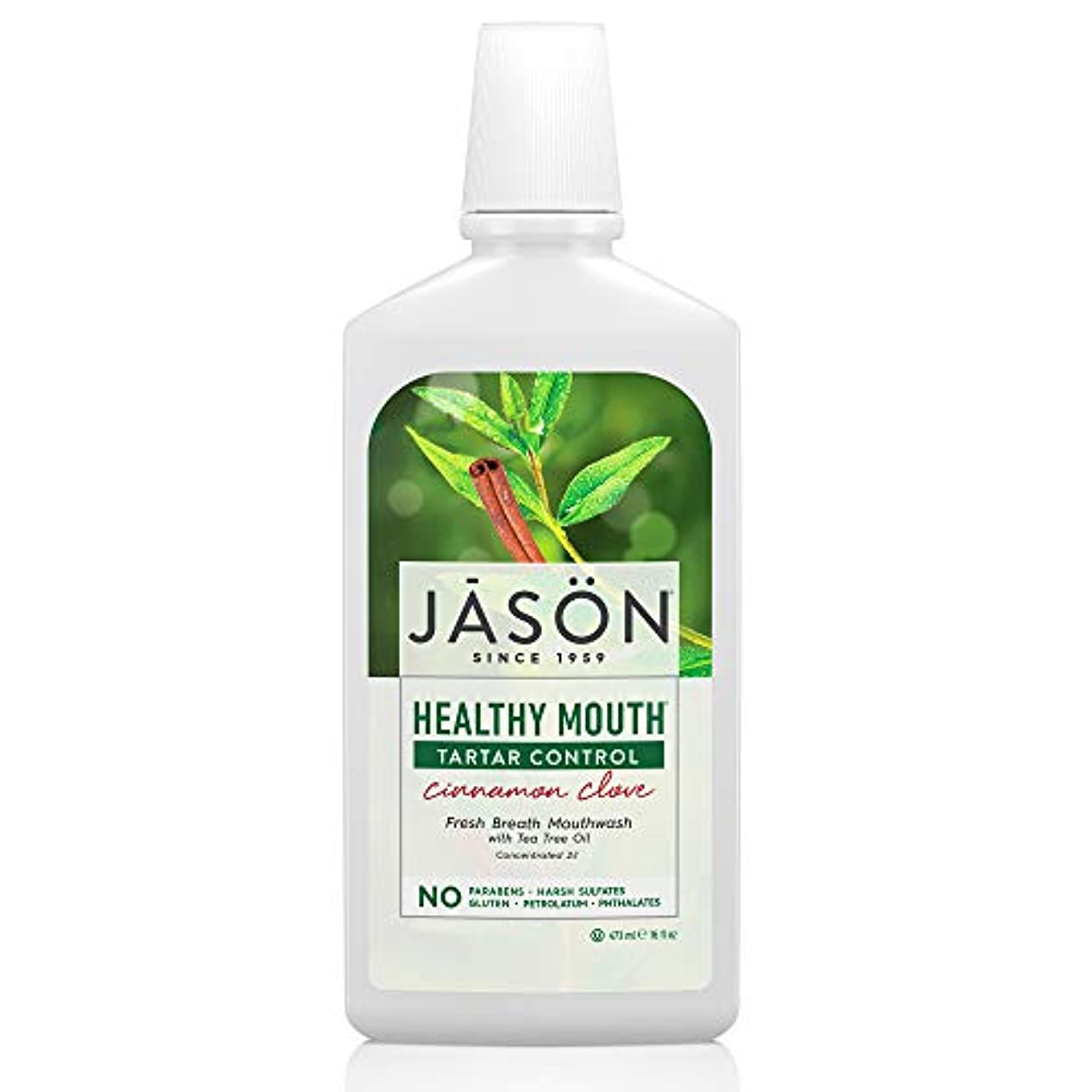 プロトタイプ対処応答Jason Natural, Healthy Mouth, Tartar Control, Cinnamon Clove, 16 fl oz (473 ml)