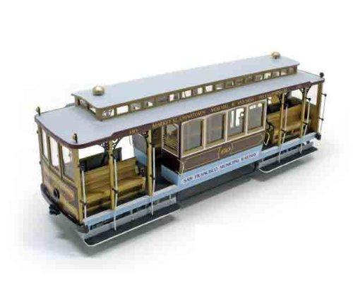 木製模型キット サンフランシスコ(ケーブルカー)和訳付き
