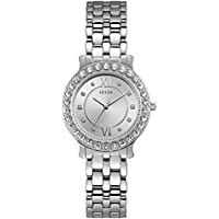 Guess Women's Blush 34mm Steel Bracelet & Case Quartz Silver-Tone Dial Analog Watch W1062L1