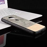 Motorola Moto E5 Plusケース、モトローラMoto E5 Plus専用デニムファブリックダブルカラーシンバックケース (色 : グレー)