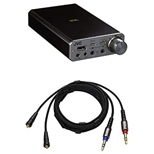 JVC ハイレゾ対応 ポータブルヘッドホンアンプ + リケーブルMMCX端子用 セット [SU-AX01 + CN-HM01MB]