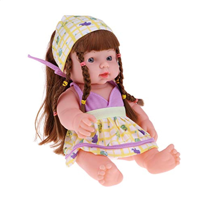 B Baosity 2色 リアル 新生児ドール 赤ちゃん女の子人形 30cm 抱き人形 衣装セット  - #1