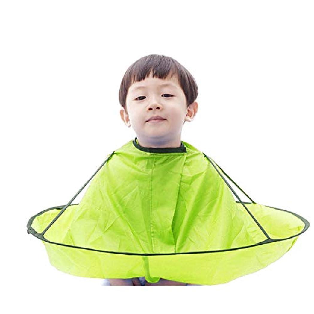 合理化ボタン過敏な子供 散髪ケープ ヘアエプロン 散髪マント 刈布 ケープ 散髪道具 防水 (グーリン)