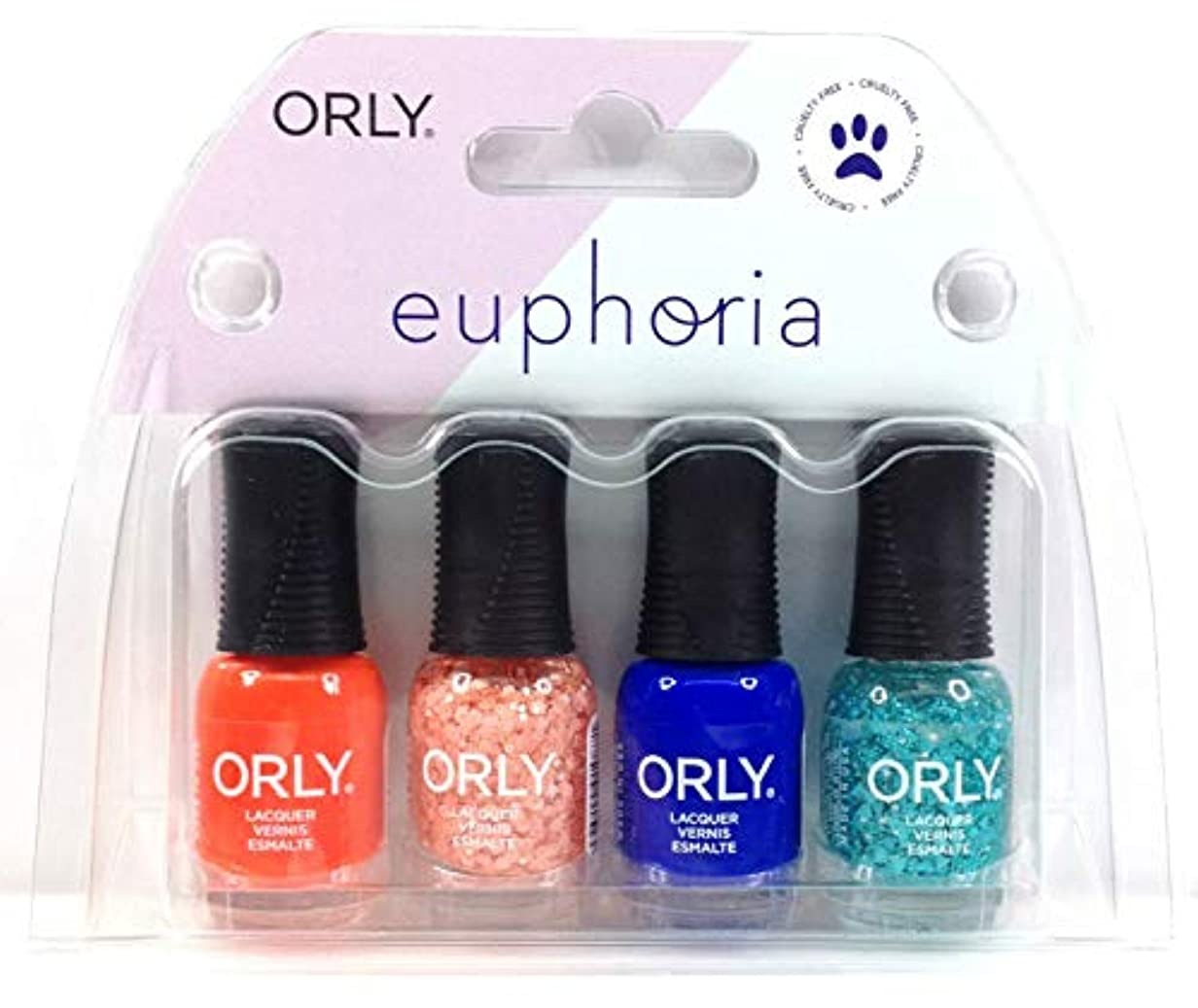 湿気の多い圧縮する咲くOrly Nail Lacquer - Euphoria 2019 Collection - Mini 4 Pack - 5.3mL / 0.18oz