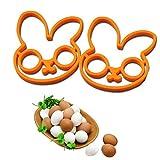 Gloneer - 高品質2PC Slicone卵白ラビットエッグシェイパー金型の卵リングシリコンモールド調理ツールキッチンアクセサリー