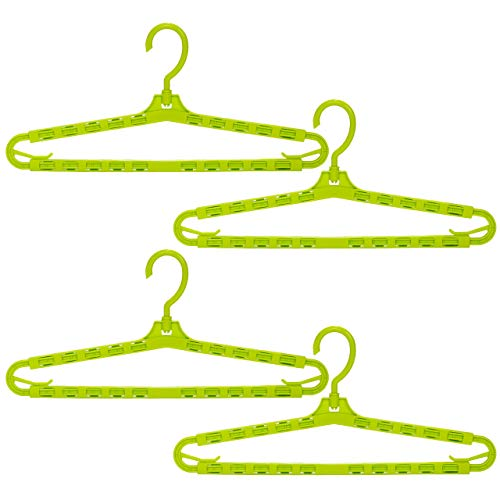 まがり堂 バスタオルハンガー 4本セット グリーン/緑色 (色が選べる) (着物 はっぴ 浴衣 道着 ハンガー)
