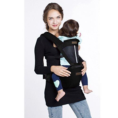 LaNova 抱っこ紐 赤ちゃんの姿勢とママの負担を軽減させるために作られた新しい抱っこひも (つかれにくい腰...