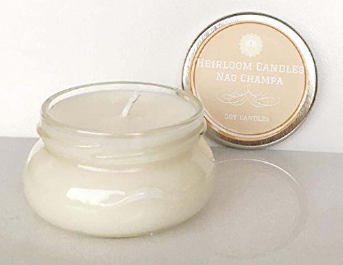 優勢モニター妻Nag Champa Scented Soy Candle - Incense Candle - Handmade Glass Jar 6oz [並行輸入品]