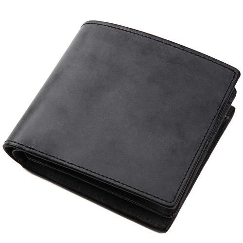 [ラファエロ] Raffaelo 英国王室が愛する表裏フルブライドルレザー メンズ二つ折り財布