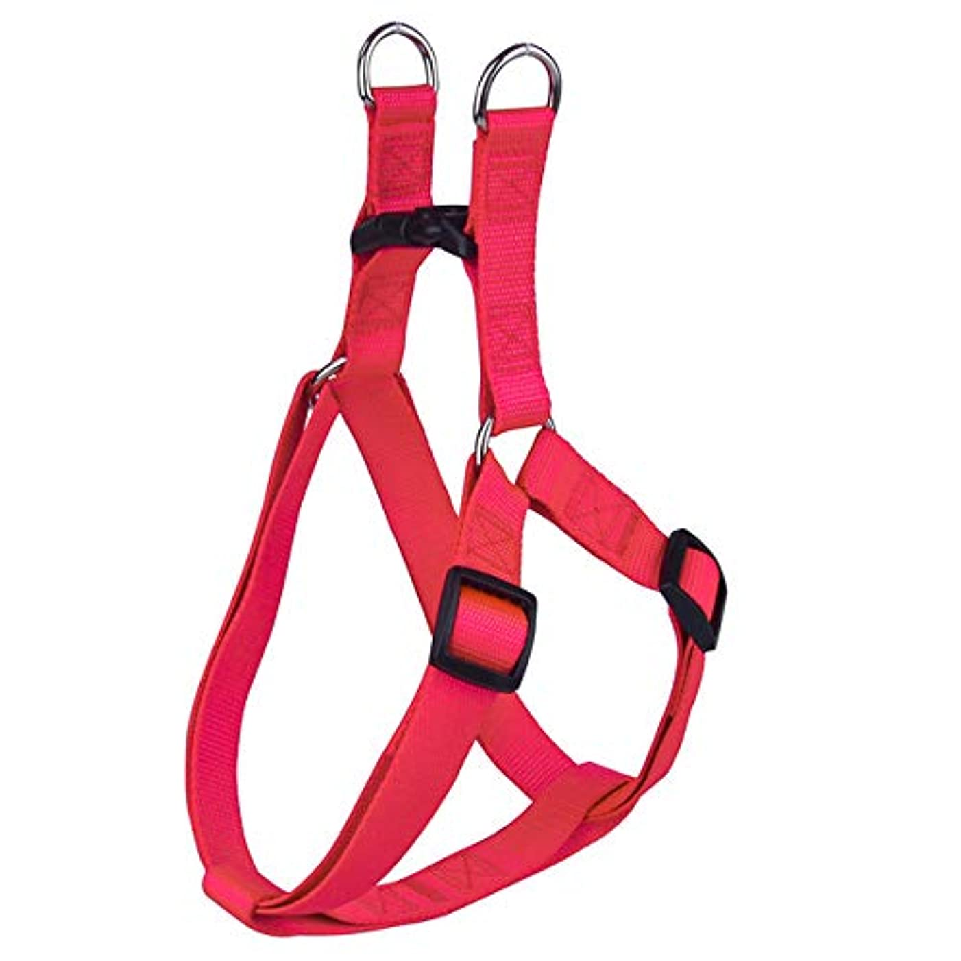 小間モンゴメリー財布Nylon Pet Dog Harness No Pull Adjustable Dog Leash Vest Classic Running Leash Strap Belt for Small and Medium Dogs Red S