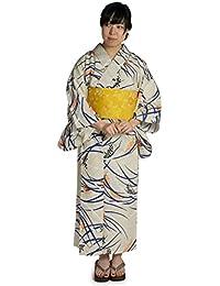kimono cafe(キモノカフェ) [浴衣福袋]27タイプから選べるレディース浴衣3点セット<居敷当付き浴衣+帯+下駄> レトロで上品。 粋な色・柄がかっこいい大人浴衣