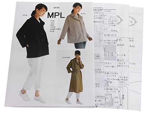 型紙・パターン MPL ワイドカラー Aラインジャケット M...