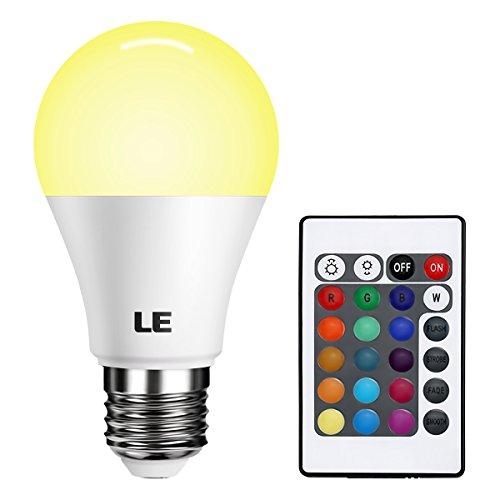 Lighting EVER リモコンの色変更A60 LED電球、16色選択、E26 中型ネジ 込み口金