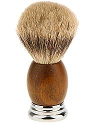 Lovoski 紳士 高密度 シェービングブラシ レトロ 木製ハンドル 髭剃り 泡立ち 洗顔ブラシ 父の日