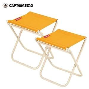 キャプテンスタッグ チェア プチレジャー チェア ミニ2個組 オレンジ M-3902