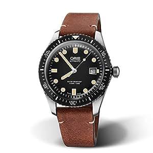国内正規品 ORIS オリス ダイバーズ65 42mm Divers Sixty Five メンズ 腕時計 自動巻き ダイバーズ レザーベルト ブラック文字盤 黒 01 733 7720 4054-07 5 21 45