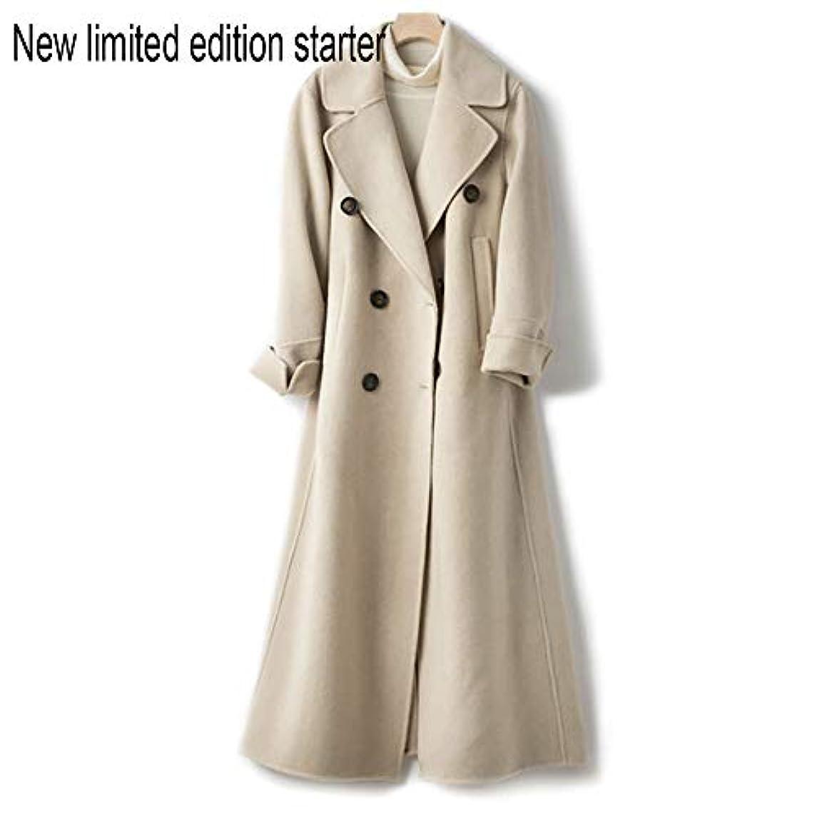 それにもかかわらずマラドロイトシングルウールコート、ウエストの両面ウールコートと長い女性服19秋と冬の新しいウールコート女性の長いブレザーコート,C,S