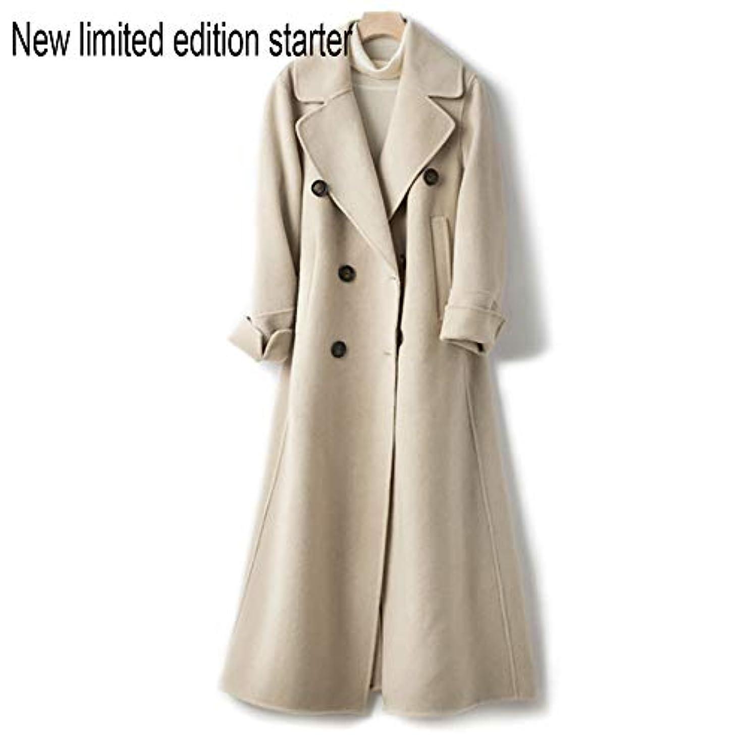 祖父母を訪問行政戻るウールコート、ウエストの両面ウールコートと長い女性服19秋と冬の新しいウールコート女性の長いブレザーコート,C,S