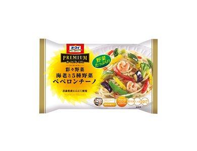 【12個】 冷凍パスタ 彩々野菜 海老と5種野菜 ペペロンチーノ 260g オーマイプレミアム