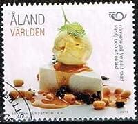 【特価】料理(デザート)の切手 オーランド2016年ノルデン切手1種完(済) ケーキ・アイス