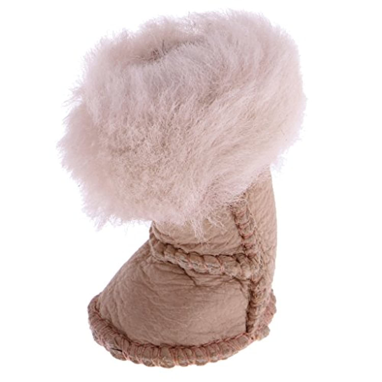 Baoblaze ぬいぐるみ 雪 靴 ブーツ  12インチ ブライスドール対応  衣類 装飾 おしゃれ 全3色  - ベージュ