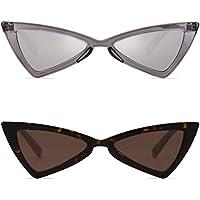 SojoS Retro Small Women Cat Eye Sunglasses Triangle Bowknot Frame SJ2051
