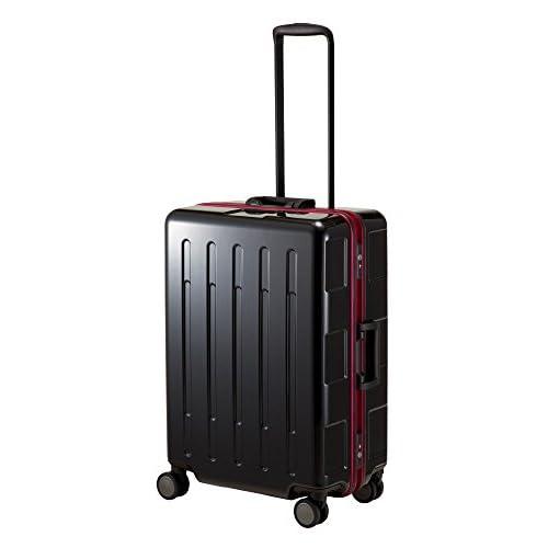 (プラスワン)PLUS ONE スーツケース AdvanceBooon アドバンスブーン 107-67 66.5cm ブラック/レッド
