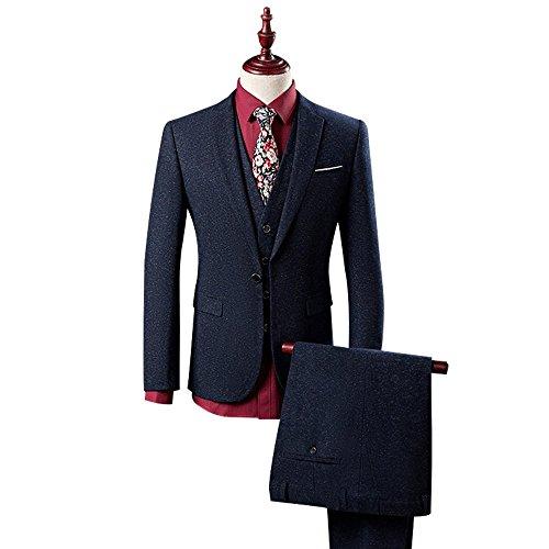 Wolfmen スーツ メンズファッション スリムカジュアルスリーピーススーツ 高品質 チェック柄 無地 ダブル 紳士 春夏秋 ビジネススーツ シングル一つボタン 四つボタン スタイリッシュ 入社式/卒業式/就職/結婚式 礼服 防シワ 大きいサイズ