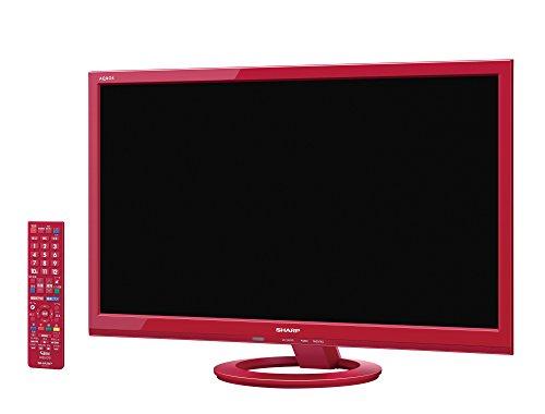 シャープ 24V型 AQUOS ハイビジョン 液晶テレビ 外付HDD対応(裏番組録画) レッド LC-24K40-R