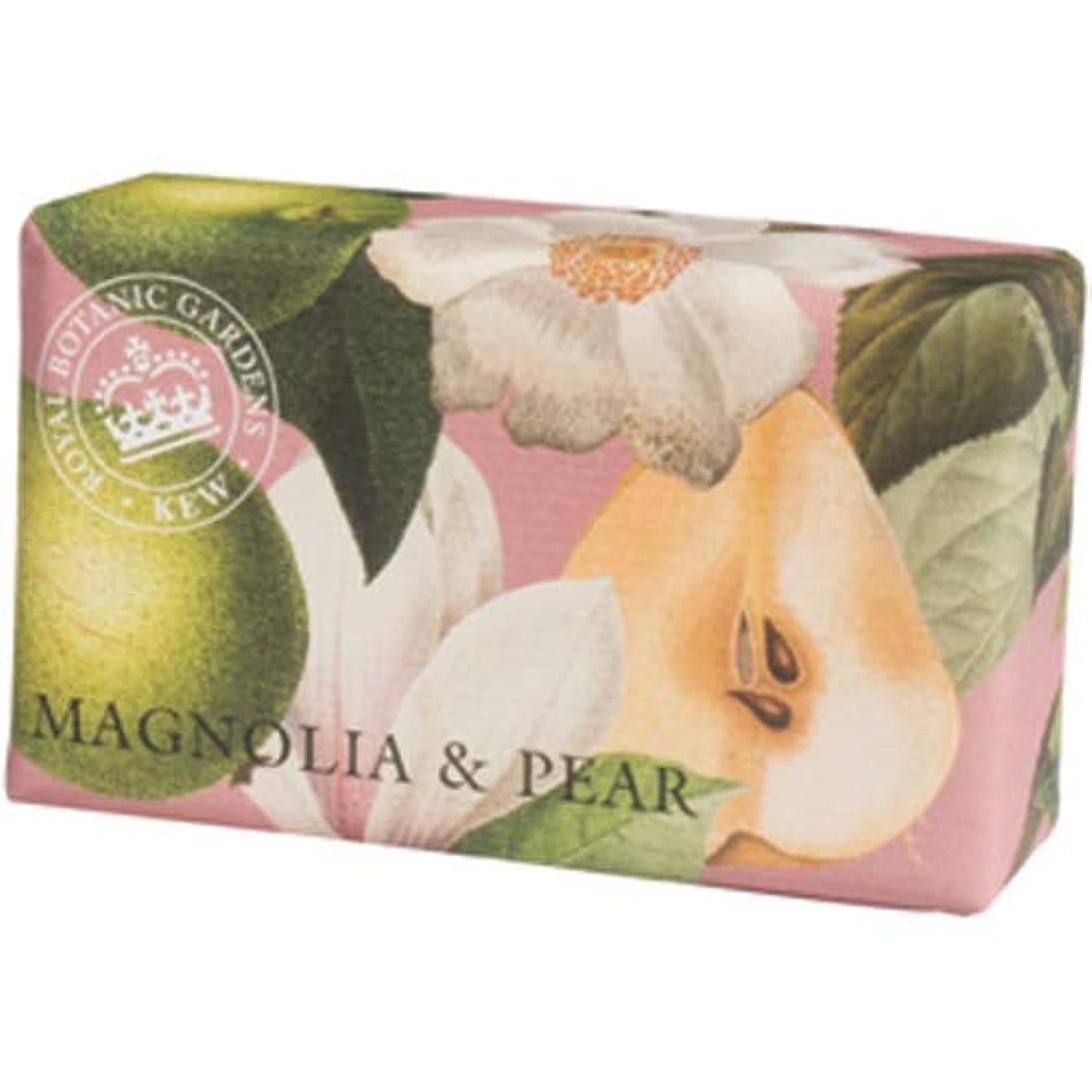 貫通ブリード無視できるEnglish Soap Company イングリッシュソープカンパニー KEW GARDEN キュー?ガーデン Luxury Shea Soaps シアソープ Magnolia & Pear マグノリア&ペア