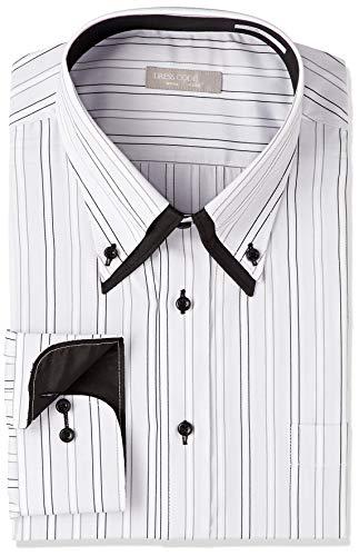 [ドレスコード101] 大きいサイズ メンズ 長袖 ワイシャツ ビッグサイズにもデザインシャツを。 おおきいYシャツ LL 3L 4L 5L ゆったり Bigshirt