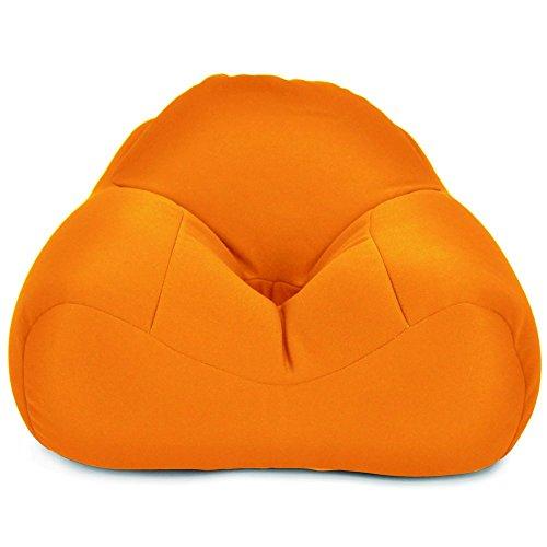 猫背になりにくい!ビーズたっぷり あぐら座椅子 「くつろぎ あぐーら」 (オレンジ色)