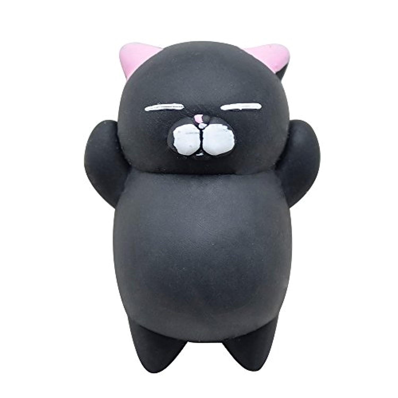スクイーズ おもちゃ ゆっくり元に戻る スクイーズ おもちゃ かわいい 可愛い モチ 動物 柔らかい スクイーズ おもちゃ ストレス解消 クリームの香り おもちゃ かわいい おもちゃ 子供 ギフト ミニチュア ノベルティ おもちゃ デコレーション 4cm ブラック